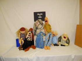 """6 MARIONETTE PUPPETS  PROPS """"CHUNKS OF LIFE"""" 1995"""