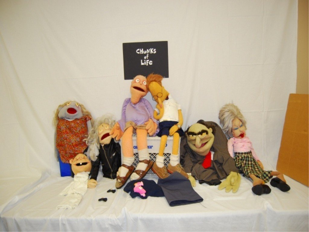 "3: 7 MARIONETTE PUPPETS PROPS ""CHUNKS OF LIFE"" 1995"