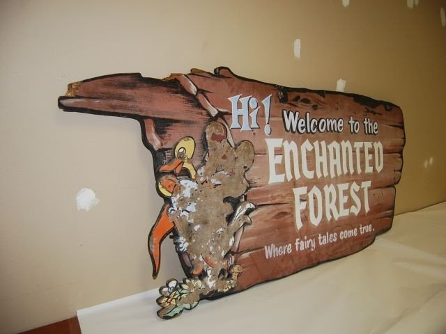 "9: MARYLAND ""ENCHANTED FOREST"" THEME PARK SIGN"