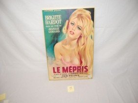17: FRENCH BRIGITTE BARDOT MOVIE POSTER VTG  NO. 1000