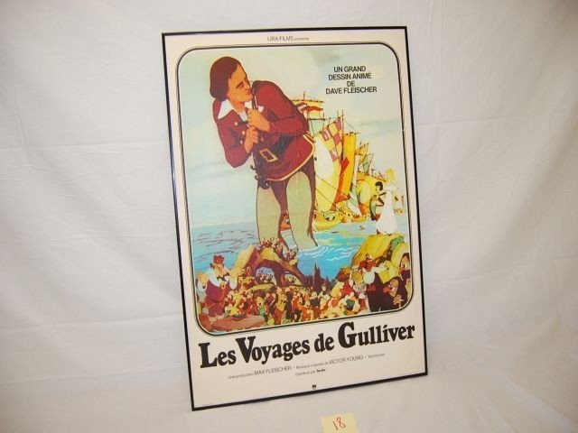 18: GULLIVERS TRAVELS LIRA- FILMS FRENCH POSTER