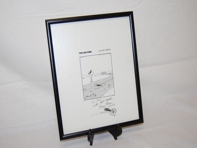 "51: ""THE FAR SIDE"" GARY LARSON LITHO AUTOGRAPHED"
