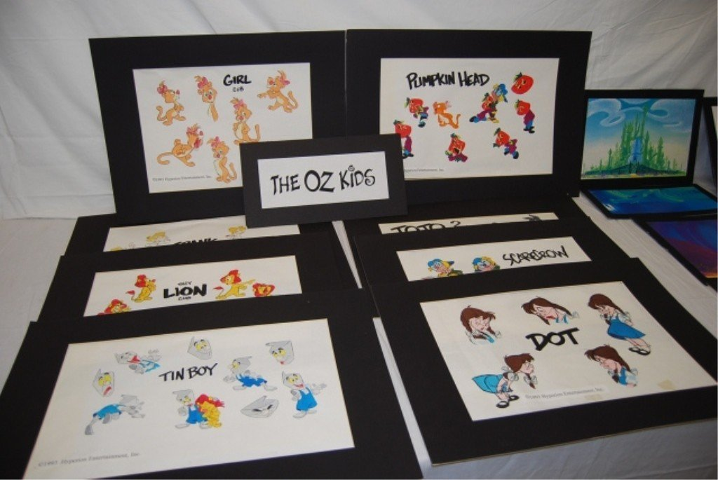 313: THE OZ KIDS DRAWING, SKETCHES, COLORED LINEWORK - 7