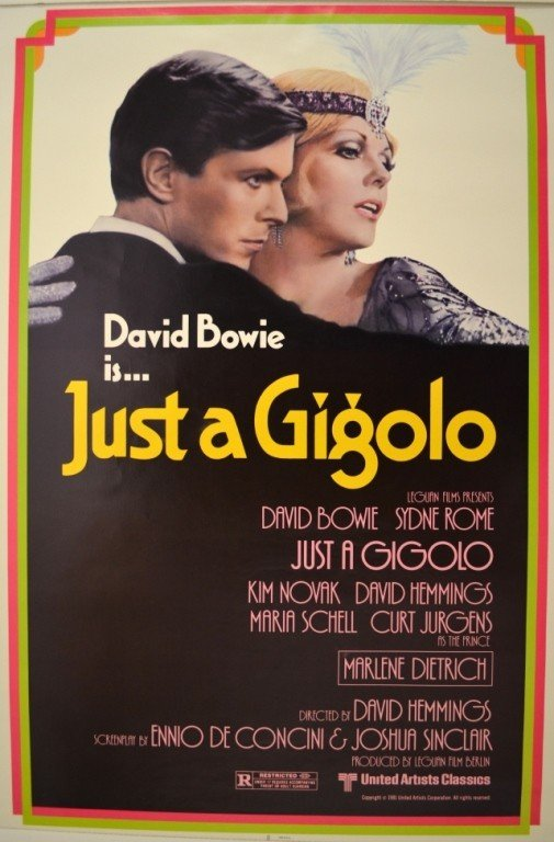 236D: JUST A GIGOLO DAVID BOWIE POSTER