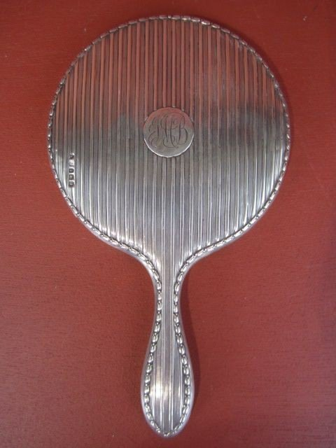 8: D34-8  STERLING HAND MIRROR