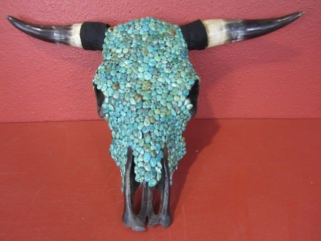 13: C2-1  STEER HEAD WITH TURQUOISE