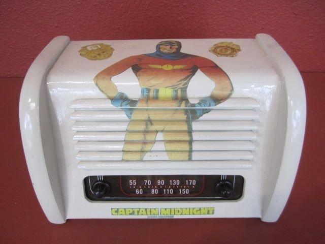 "348: A20-8  VINTAGE ""CAPTAIN MIDNIGHT"" AM RADIO"