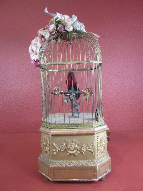 115: A22-10 FRENCH MECHANICAL COIN OPERATED BIRDCAGE