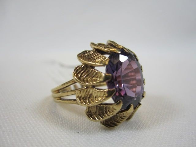 120: A27-5   14K YELLOW GOLD ANTIQUE RING