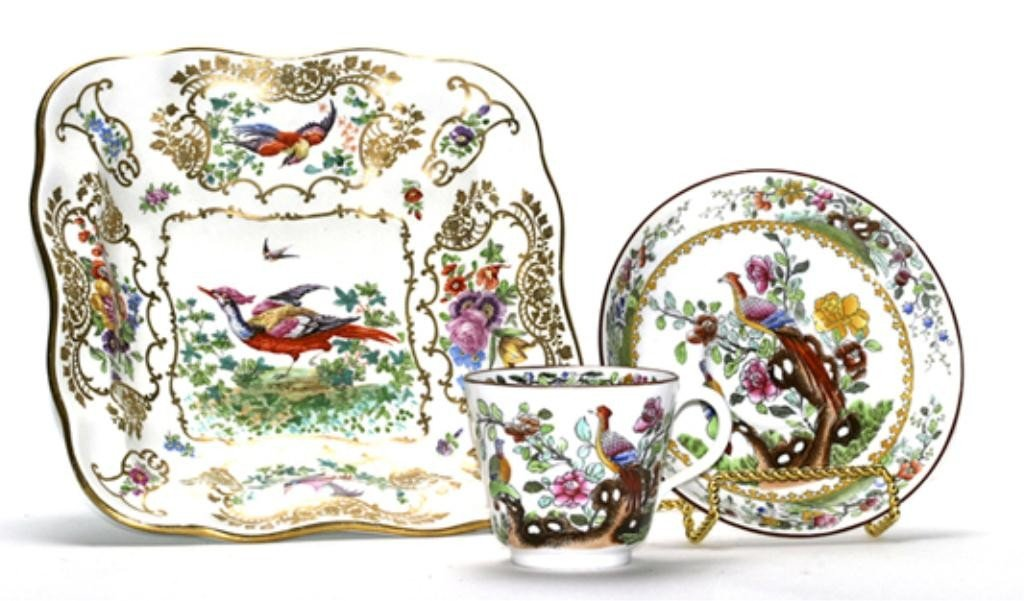 123G: F60-238  BOOTHS CHELSEA DISH & SPODE CUP & SAUCER