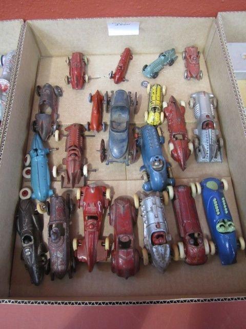 25D: F72-4  LOT OF 93 VINTAGE CAST IRON & ALUMINUM CARS - 3