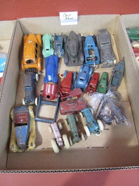 25D: F72-4  LOT OF 93 VINTAGE CAST IRON & ALUMINUM CARS - 5