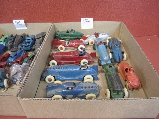 25D: F72-4  LOT OF 93 VINTAGE CAST IRON & ALUMINUM CARS - 9