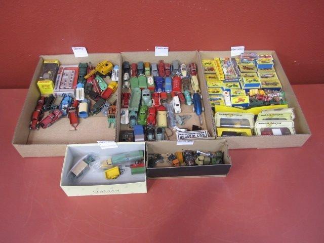 25I: F72-9  LOT OF 139 VINTAGE MATCHBOX & ASST CARS