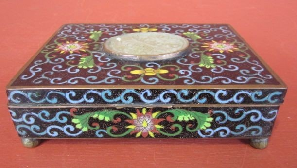 508: A9-8  ANTIQUE CHINESE CLOISONNE JEWELRY BOX