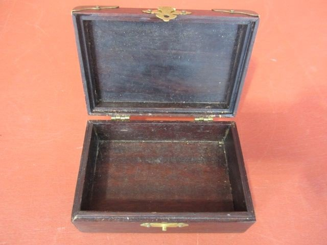 509: A9-9  ANTIQUE CHINESE WOOD BOX - 4