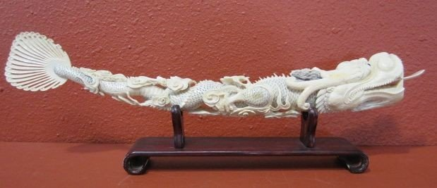 511: A9-11  CARVED IVORY DRAGON
