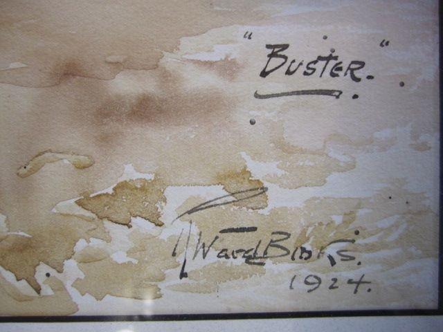 "796: A44-13  TWO SIGNED ""REUBEN WARD BINKS"" WATERCOLOR - 3"