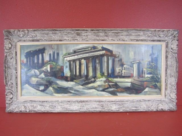 """200: F97-1  SIGNED """"OZZ FRANCA"""" OIL PAINTING"""
