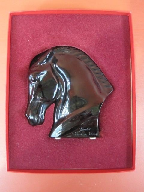 6: F98-6  RARE BLACK HORSE HEAD BY BACCARAT