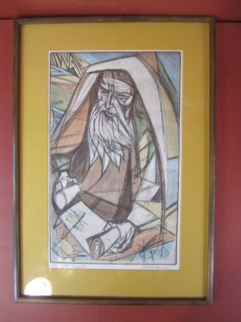 17: F98-20  SIGNED IRVING AMEN ETCHING