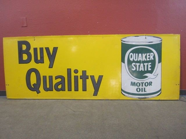 208: A71-35  LARGE QUAKER STATE SIGN