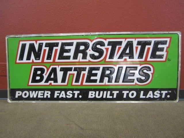 209: A71-36  INTERSTATE BATTERIES TIN SIGN