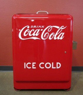 "D14-1  COCA COLA ""JUNIOR"" ICE CHEST ON WHEELS"