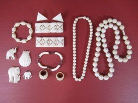 G58-2  LOT OF IVORY JEWELRY