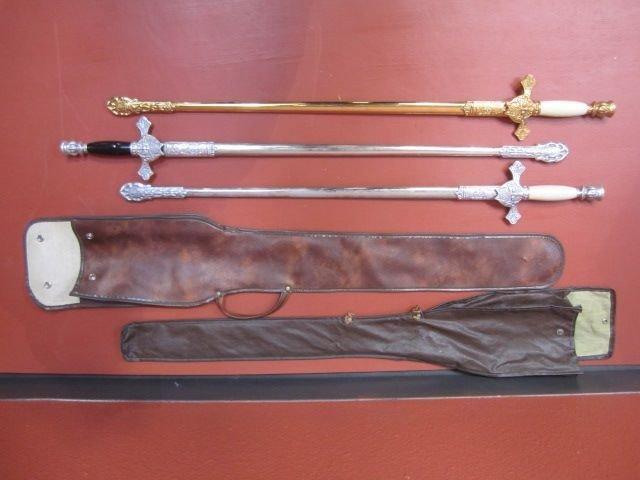 82: E2-7  THREE KNIGHTS OF COLUMBUS CEREMONIAL SWORDS