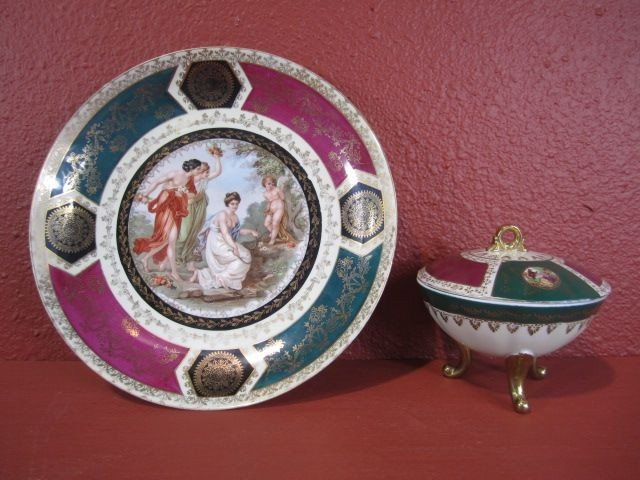 4: A71-4  GERMAN PLATTER WITH COVERED BOWL