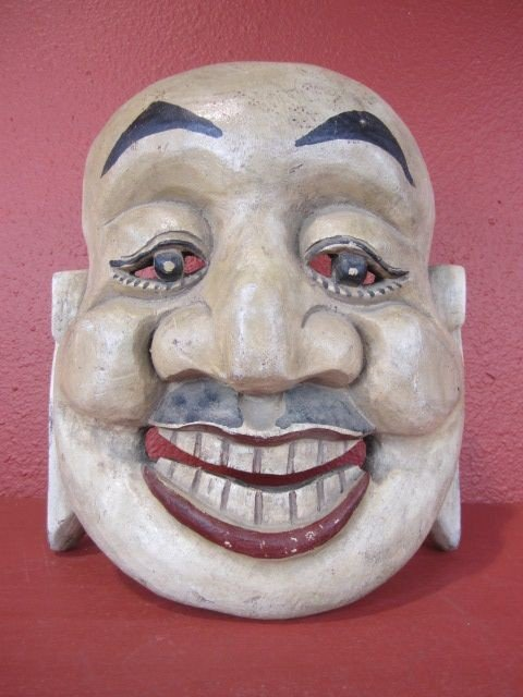 6: A71-6  CARVED WOOD CHINESE MASK