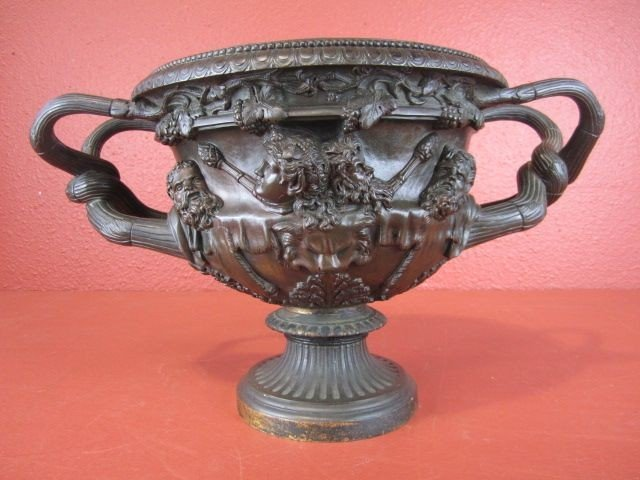 34: A55-9  FRENCH GRAND TOUR PATINATED BRONZE URN