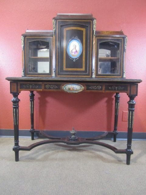 150: A11-42  WRITING DESK WITH SEVRES INSERTS