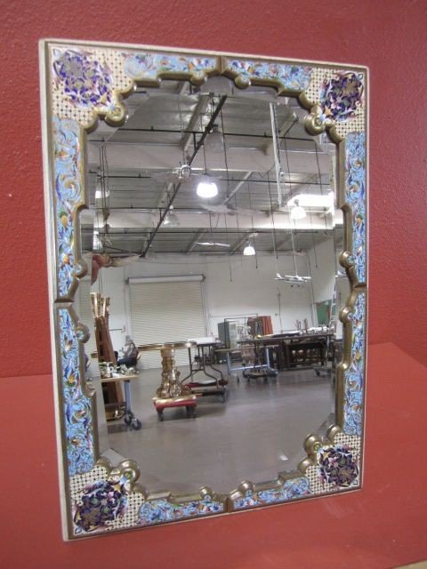179: A11-65  CHAMPLEVE FRAMED MIRROR