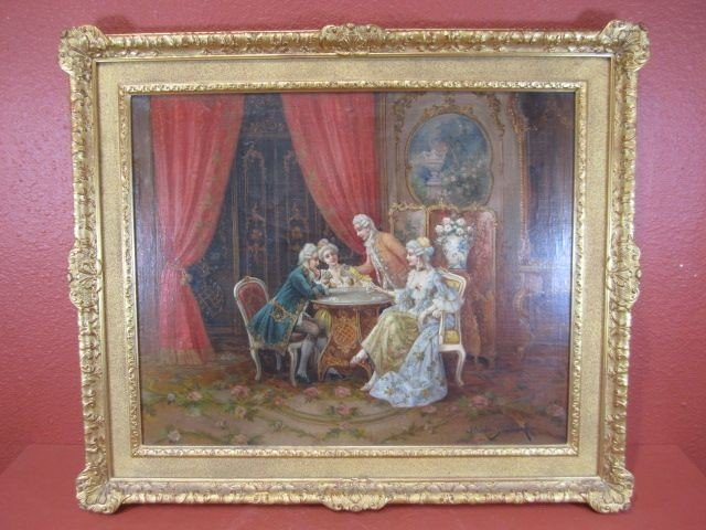 """180: A11-70  SIGNED """"STEPHAN SEDPORCK"""" OIL PAINTING"""