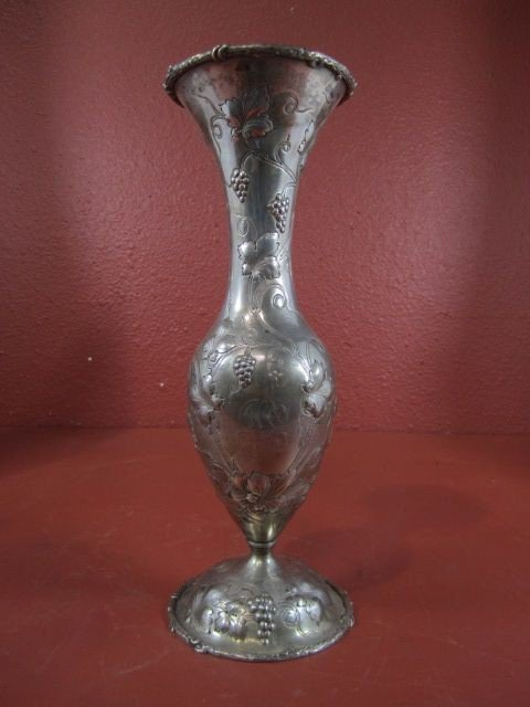 150B: A71-2  STERLING SILVER VASE