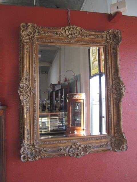 18: A3-3  FRAMED BEVELED MIRROR