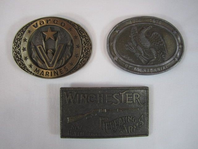 21: G23-1  LOT OF 3 VINTAGE BELT BUCKLES