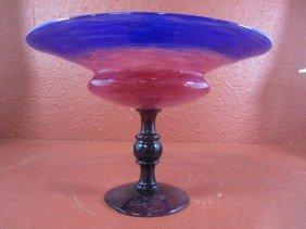 304: E25-1  SIGNED SCHNEIDER GLASS BOWL
