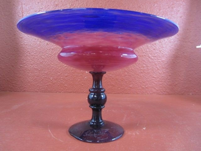 304: E25-1  SIGNED SCHNEIDER GLASS BOWL