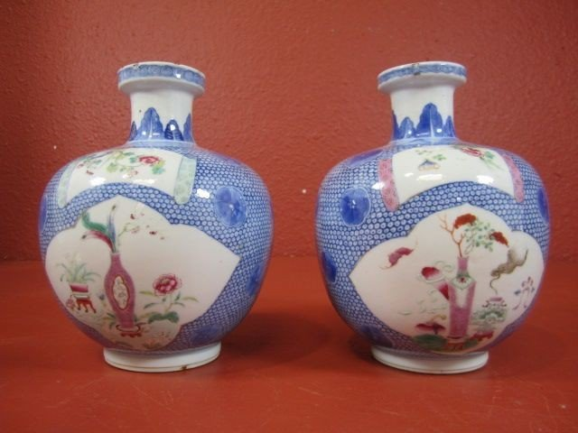 66: A11-21  PAIR OF PORCELAIN VASES
