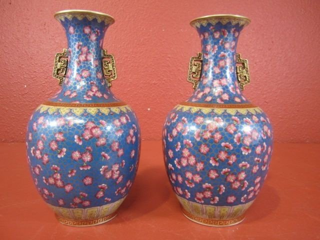 71: A11-26  PAIR OF PORCELAIN VASES