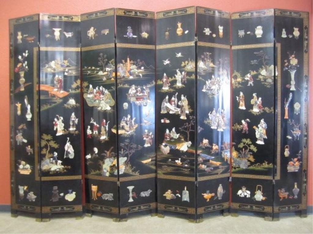 77: A11-40  LARGE 8 PANEL SCREEN