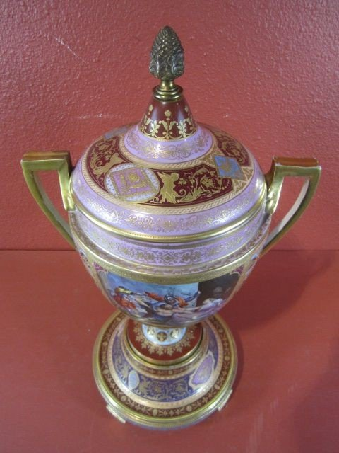89: A11-60  ROYAL VIENNA COVERED URN - 3