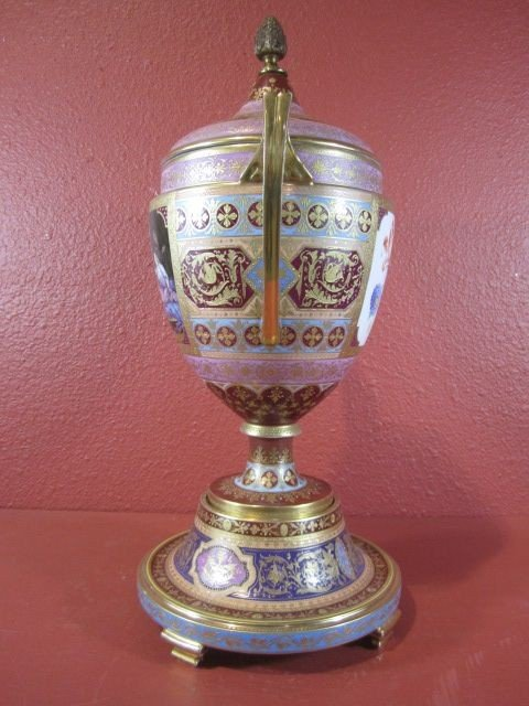 89: A11-60  ROYAL VIENNA COVERED URN - 5