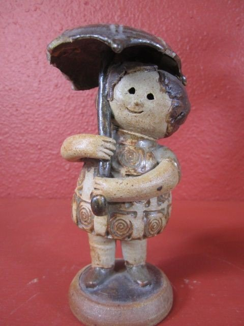"""108: C15-5  SIGNED """"CLIFF STEWART"""" POTTERY SCULPTURE"""