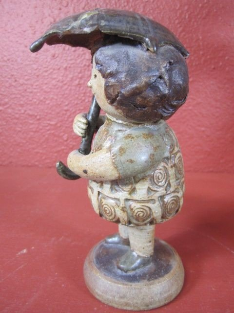 """108: C15-5  SIGNED """"CLIFF STEWART"""" POTTERY SCULPTURE - 2"""