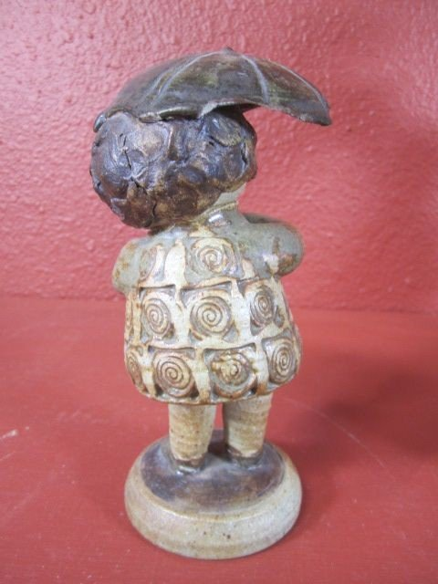 """108: C15-5  SIGNED """"CLIFF STEWART"""" POTTERY SCULPTURE - 3"""