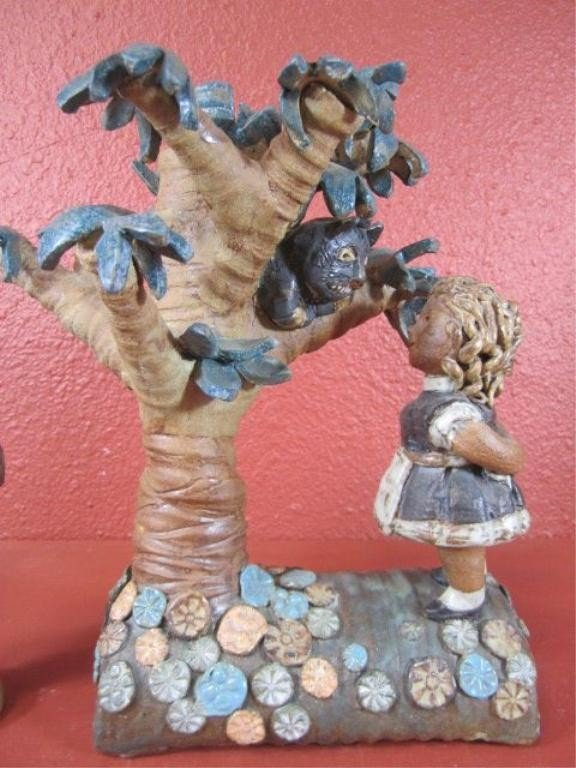 """109: C15-6  SIGNED """"CLIFF STEWART"""" POTTERY SCULPTURE"""